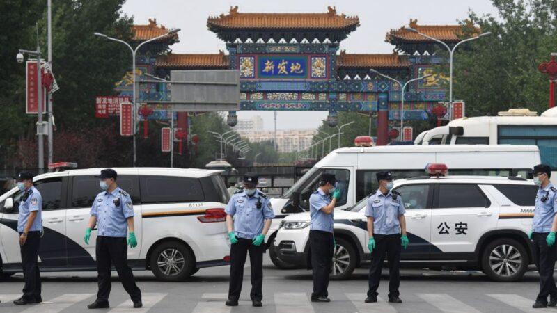 组图:北京突爆疫情 武警进驻 气氛紧张