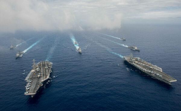 针锋相对 中共西沙军演 美军南海启动双航母作战