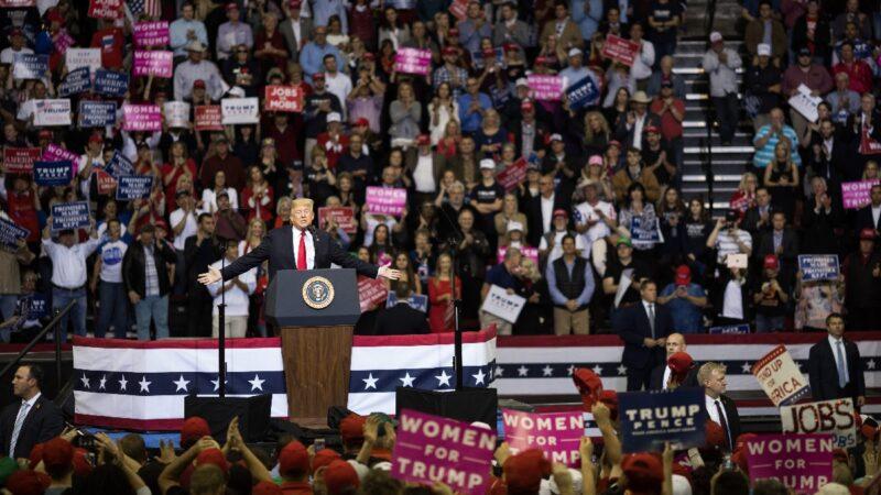 美保守派民調:選民空前支持川普
