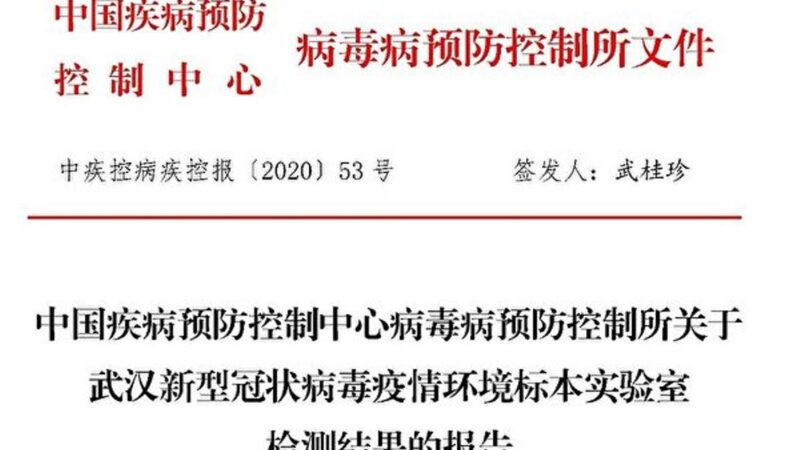 武漢華南市場檢測報告曝光 供貨動物市場未見病毒