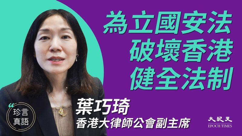 【珍言真語】葉巧琦:立國安法破壞香港健全法制