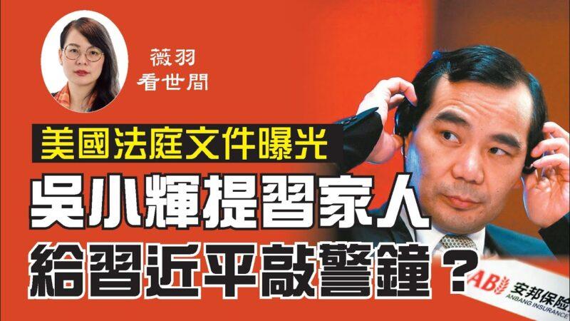 安邦吴晓辉签密件曝光 提及习与王家人 给习敲警钟?