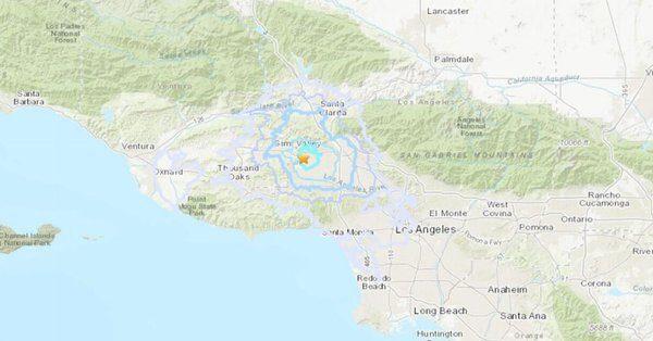 南加州5.5地震 深度僅6.9公里 尚未傳災損