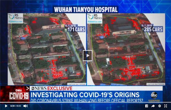 衛星圖像提示 中共病毒去年秋已在武漢傳播