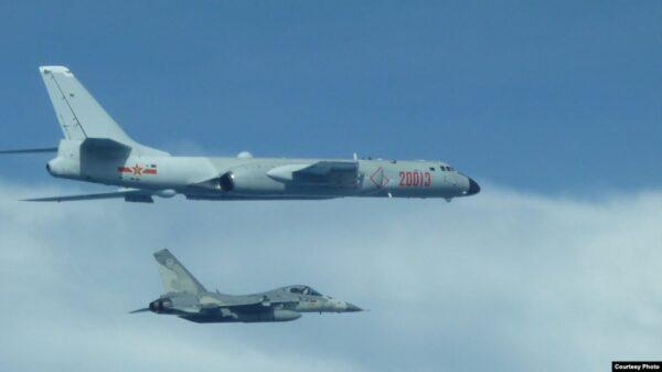 中共軍機一週3次闖入台灣空域 3度被驅離