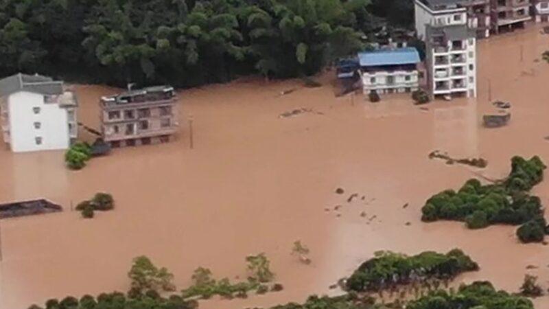 江西告急14座水坝决堤 武汉危长江成悬江(视频)
