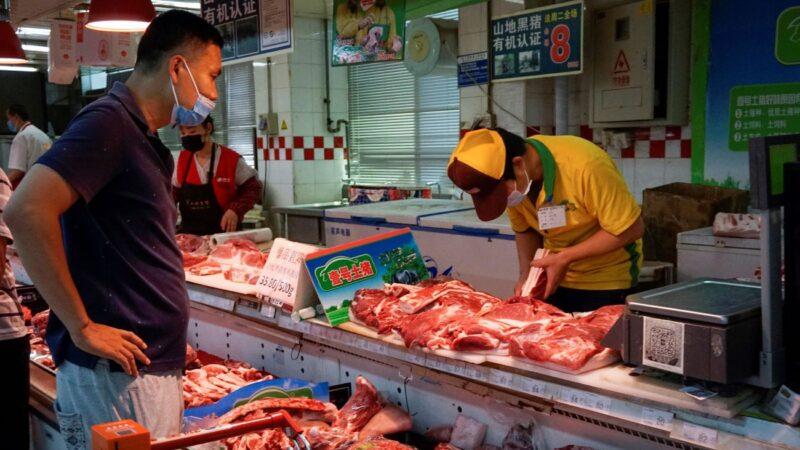 大陸豬肉價格連漲六週 洪水令豬價雪上加霜
