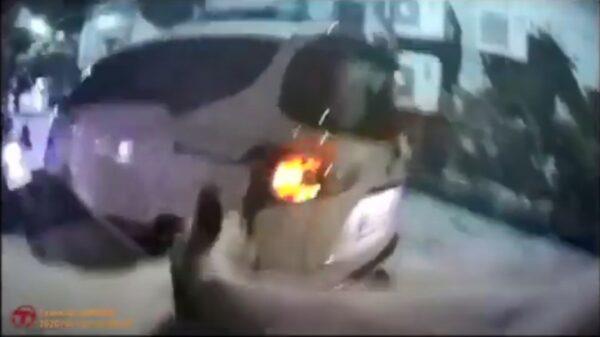男驾驶拒配合警拦检 北市上演警匪追逐战 (视频)