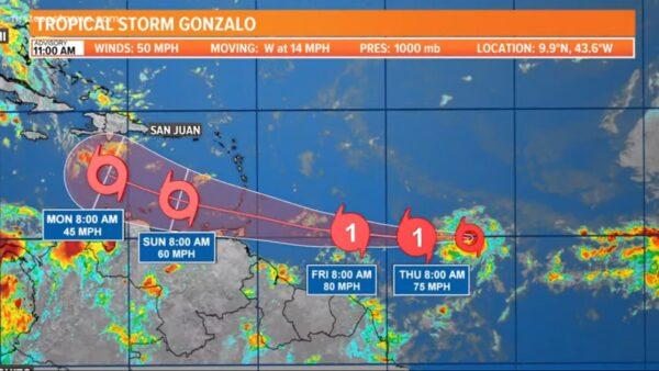 熱帶風暴朝加勒比海移動 或成為大西洋今年首個颶風