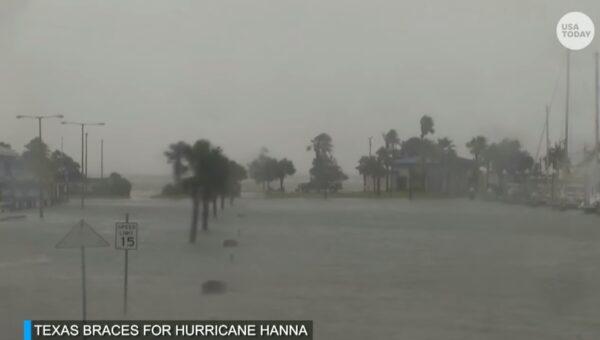 颶風漢娜挾帶強風豪雨登陸德州 或引發山洪暴發