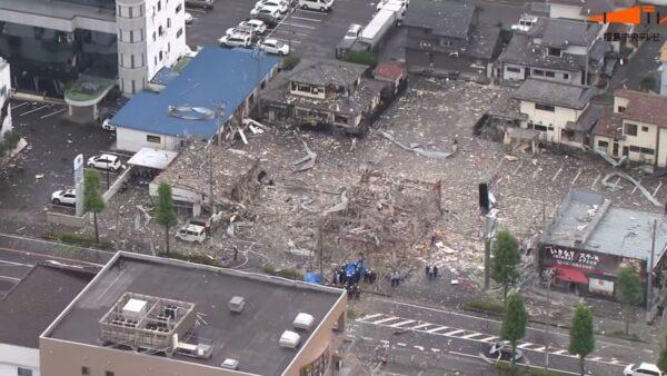 餐廳爆炸幾夷為平地 日本郡山市已知釀1死17傷