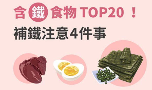 含鐵食物TOP20 鳳尾藻鐵質最高?補鐵注意4點(圖)
