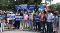 紐約兩大區遊行撐警 BLM鬧場 警方調停