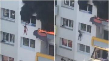 驚險30秒!法國2幼童從公寓4樓跳出火海逃生