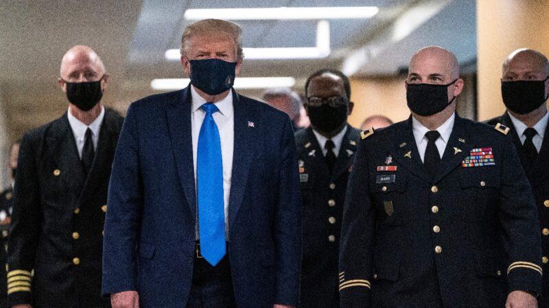 川普首次戴口罩公開亮相 媒體聚焦