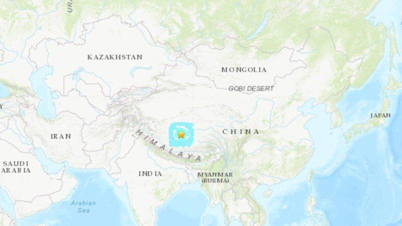 西藏西部发生6.2地震 深度仅5公里