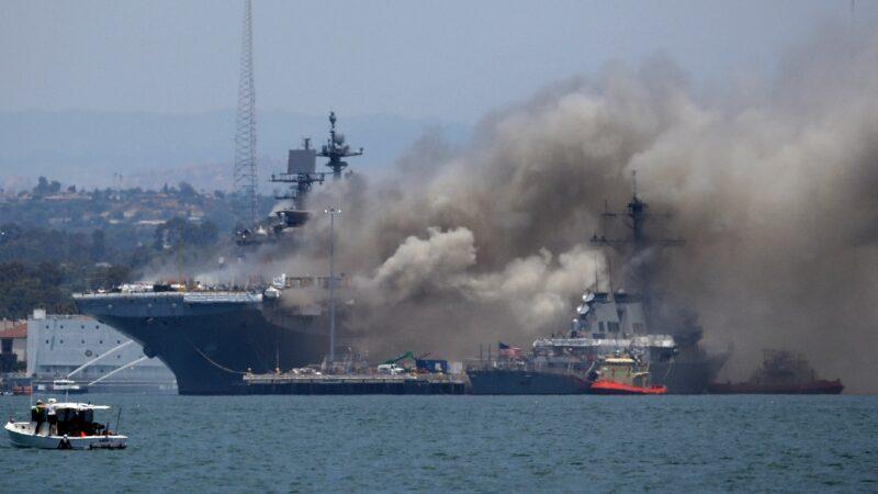 聖地亞哥基地美艦起火爆炸 21名水兵受傷
