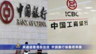 美通过香港自治法  中资银行做最坏准备