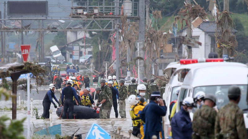 日本九州致災大雨警報30分達標  熊本民眾逃難不及