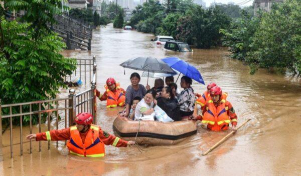 長江變「懸河」 江西發布最高洪災預警
