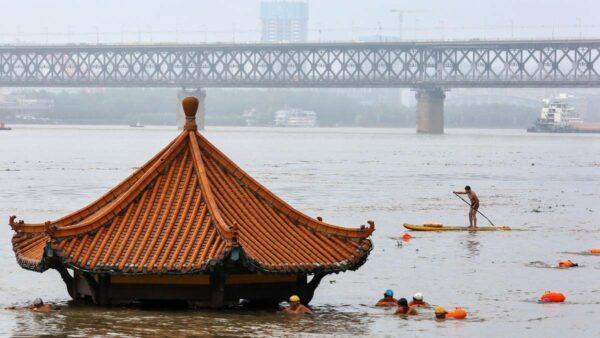 三峽洩洪 長江從洞庭湖到上海水位全超警戒線