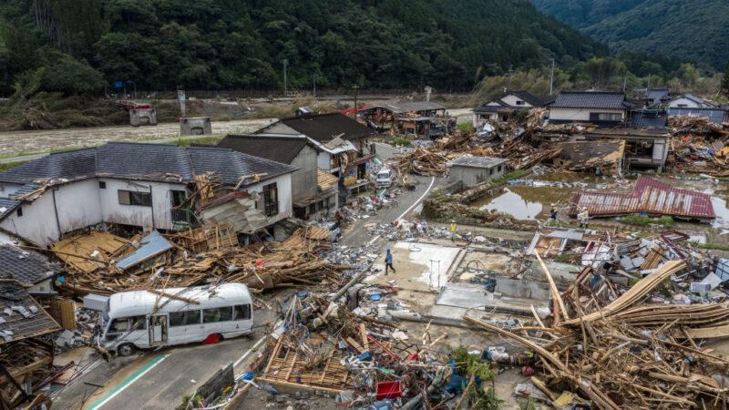 日本九州豪雨恐下到10日 災區滿目瘡痍已釀59死