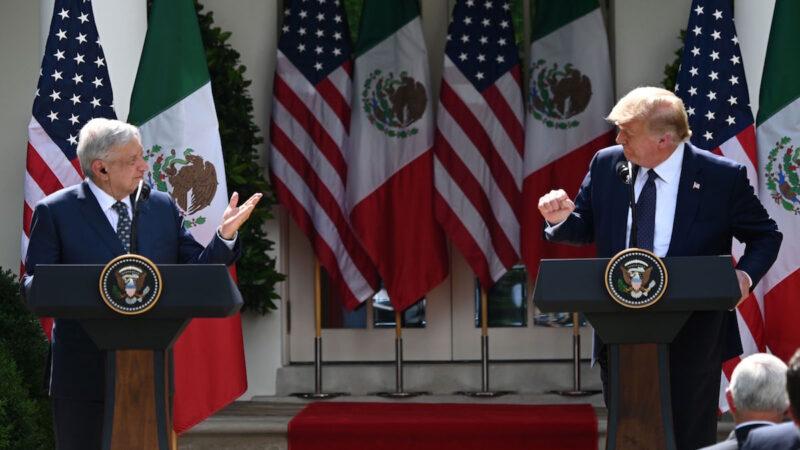 【重播】川普总统与墨西哥总统联合新闻发布会(同声翻译)