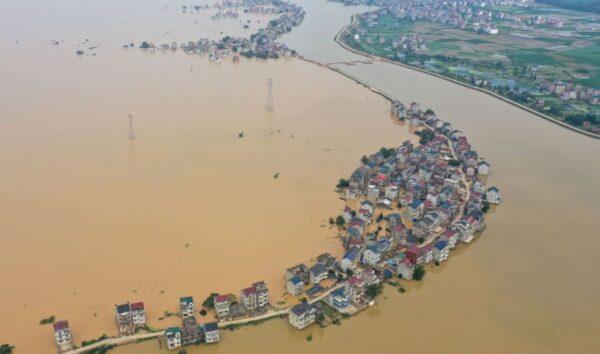 江西潰堤!長江洪峰過鄱陽湖 水位超98年