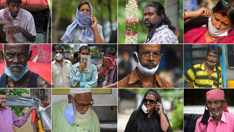 印度仅3天增10万例 不戴口罩民众遭开罚单