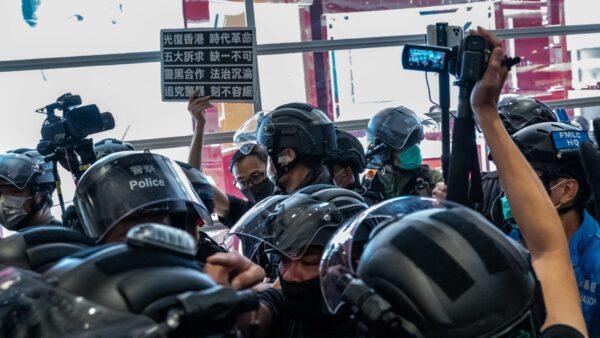 組圖:7.21港人重現元朗抗爭 警方拘捕多人