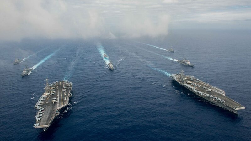 美中罕見南海同時軍演 美軍超豪華戰陣亮相