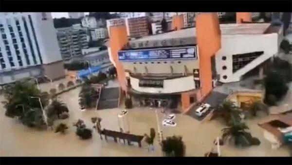 城市失守:湖北地級市一夜被淹傳因洩洪(視頻)