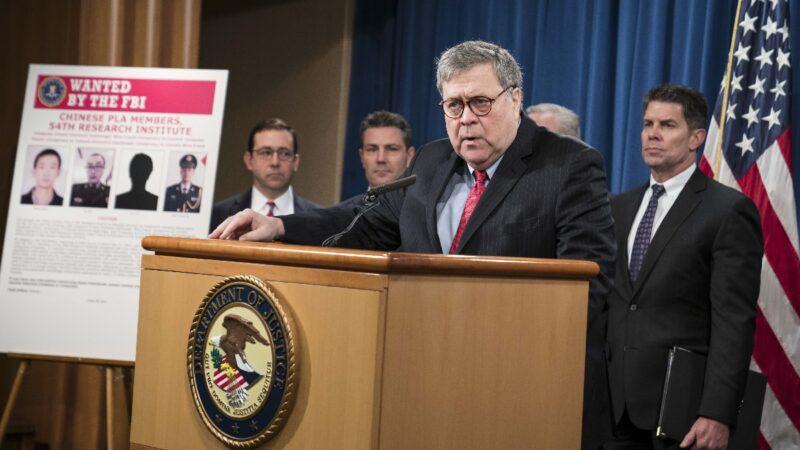 美司法部长评好莱坞及科技巨头:持双重标准 向中共低头