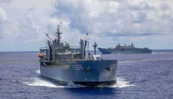 澳洲艦隊駛近南沙群島 與中共軍艦近距對峙