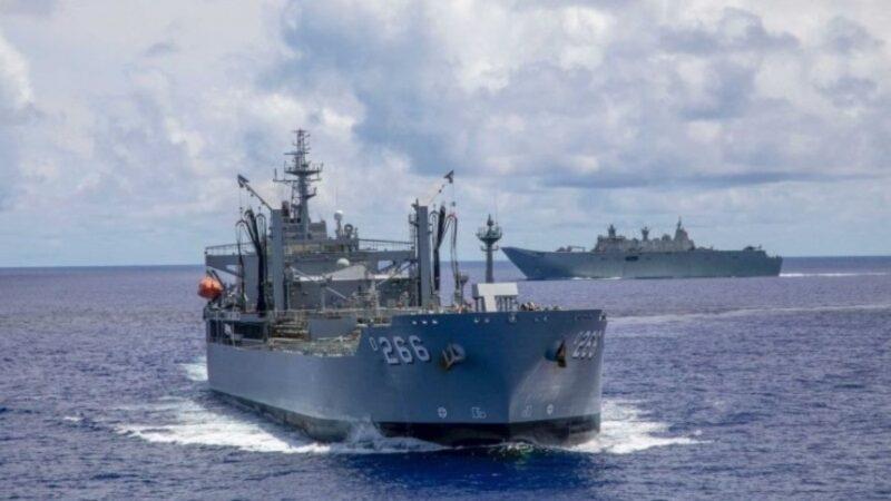 澳洲舰队驶近南沙群岛 与中共军舰近距对峙