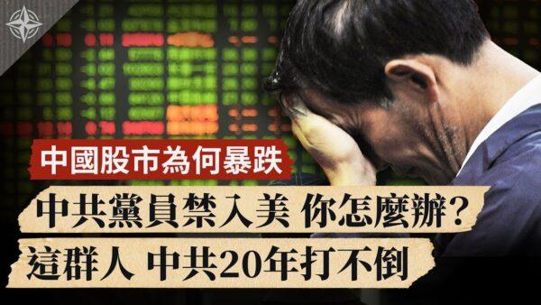 【世界的十字路口】中国股市为何暴跌 中共党员禁入美 你怎么办