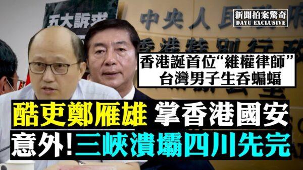 【拍案惊奇】酷吏郑雁雄进港 三峡溃四川先完?
