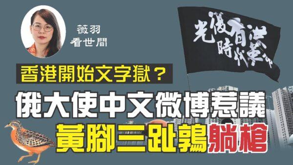 香港文字獄開始?/俄駐華大使微博惹議