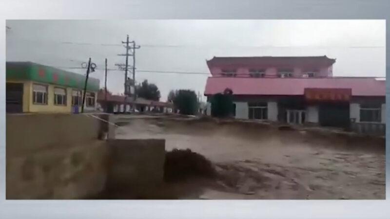 洪灾蔓延北方 内蒙赤峰大街急流奔涌(视频)