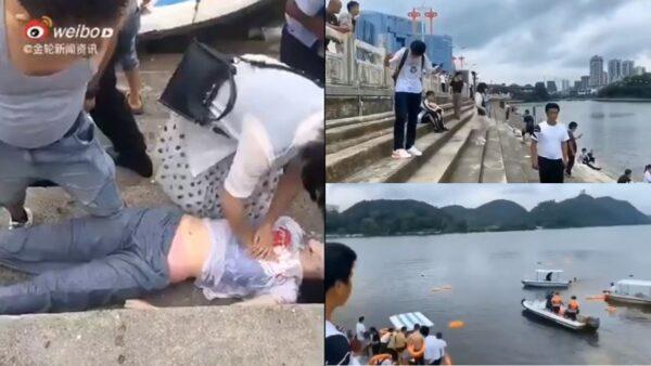 突發!中國高考車衝入水庫 21死15傷(多視頻)