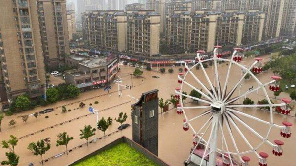 淮河發布第1號洪水 安徽金寨被淹水深2米
