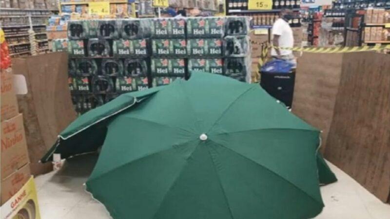 員工猝死以傘遮蔽 巴西賣場繼續營業引眾怒