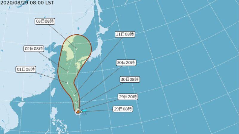 台风梅莎快速增强或超过巴威 预估朝韩国移动