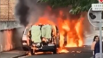 法國裝甲運鈔車剛駛出銀行 遭包夾劫走900萬歐元