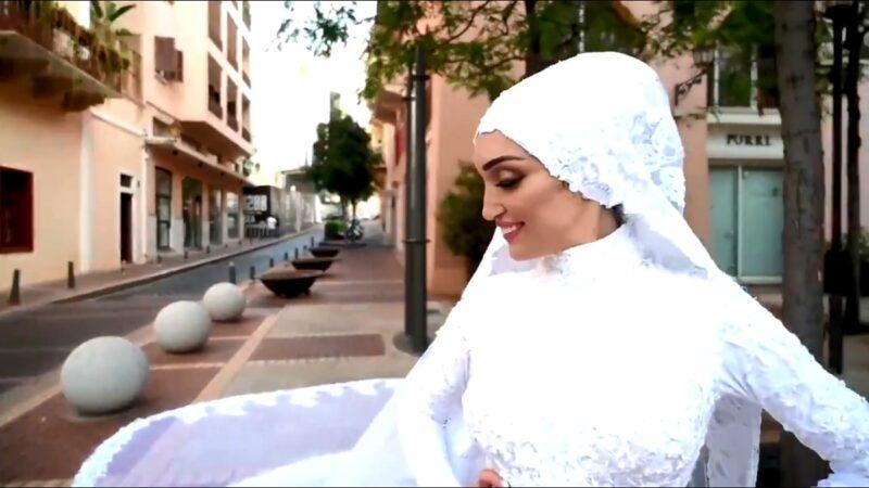 贝鲁特大爆炸前 新娘正微笑拍摄婚礼影片瞬间