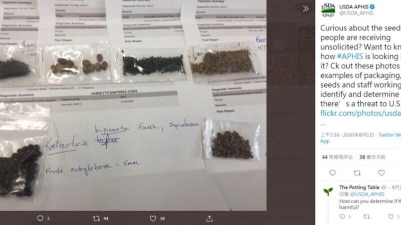 不明種子郵件來源現蹤跡 疑部份為台灣共諜寄出