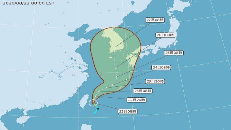 颱風巴威形成遙指韓國 台灣今上午發海警