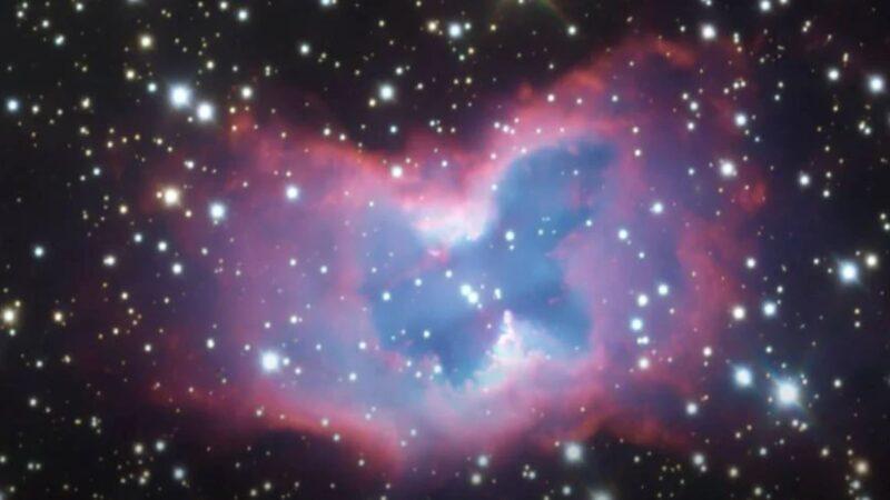 一隻巨大的「太空蝴蝶」被拍到了!直徑約2光年