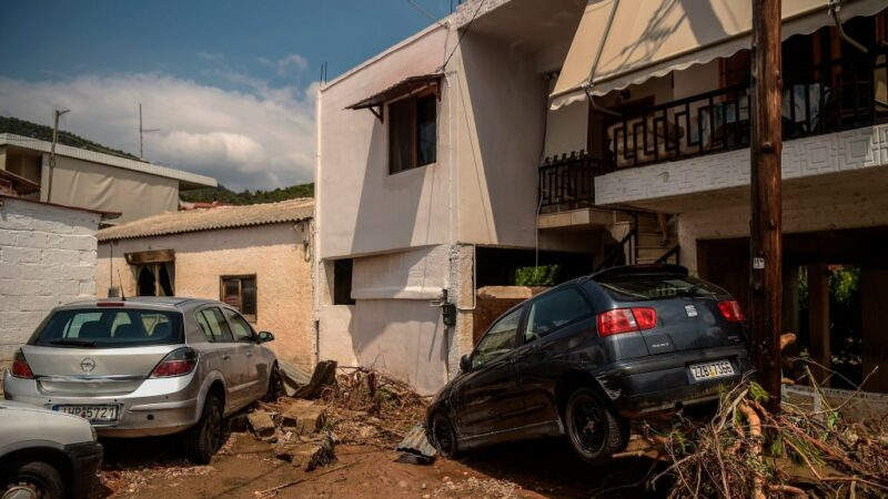 风暴塔莉亚肆虐 重创希腊艾维亚岛