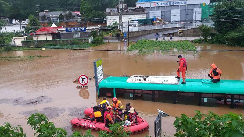 韓國暴雨成災至少21死11失蹤 土石流警報升至最高等級